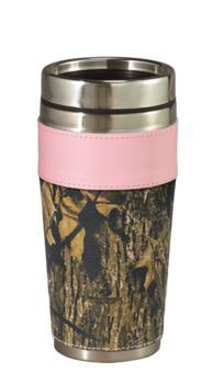 Weber's Camo Leather Travel Mug - Mossy Oak® Break-Up®/Pink   Bass Pro Shops