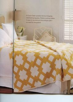 """Image of the """"Butter Churn"""" quilt from the February 2013 issue of American Patchwork & Quilting. februari 2013, butterchurn, butter churn, colors, two color quilts, patchwork quilting, sampler quilts, churn dash, american patchwork"""
