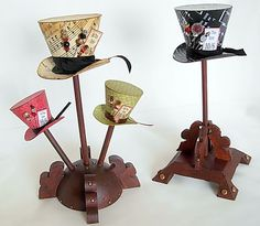 DIY Mad Hatter Hats. Could be used for ornaments or just awesome decor