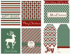Sweet Nothings: Free Printable Holiday Gift Tag Set