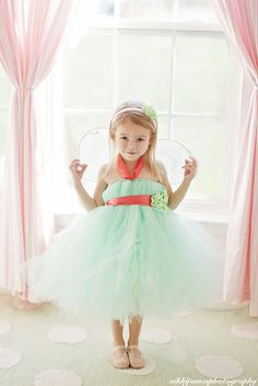 NEW TO SHOP Mint and Coral tutu dress. $35.00, via Etsy.