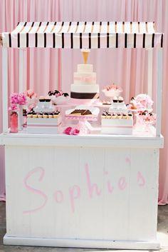 themed birthday parties, ice cream party, ice cream social, birthday idea, dessert tabl, baby girls, first birthdays, 1st birthdays, cake bars