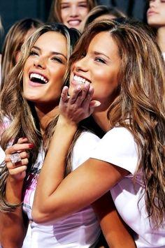 alessandra ambrosio and adriana lima victoria's secret makeup hair