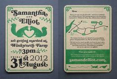 Samantha & Elliot letterpress wedding invitation
