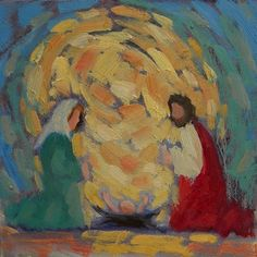 Love this artist's Impressionistic paintings of the nativity...