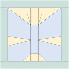 Paper pieced butterfly quilt block
