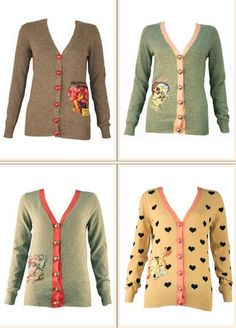 cute idea to revamp an old sweater or cardigan