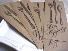 bon appetit kraft cutlery bags
