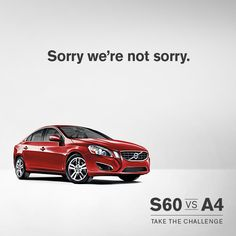 We're not apologizing for looking this good! #Volvo #S60