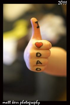 For father's day - handprint photo i love dad