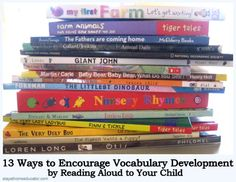13 Ways to Encourage Vocabulary Development {Guest Post on This Reading Mama}