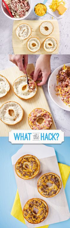 Udi's Gluten Free Sausage and Cheese Bagel. Perfect for on-the-go! l #WhatTheHack