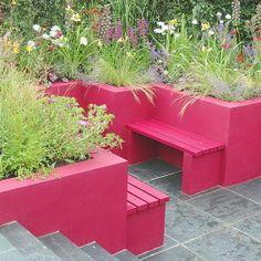 9-contemporary-gardens-Colourful-modern-garden