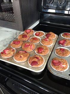 Strawberry Yogurt Breakfast Muffins