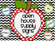 Free cute open house supply signs!