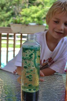 Make your own lava lamp-- good babysitting craft