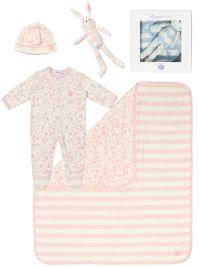 £77 Bonnie Bundle 'GIFT SET 2' cotton blanket/toy/sleepsuit/hat