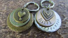 Dog+Tag++Pet+ID+Tag++Dog+collar+tag++Pet+Tag+in+by+themadstampers,+$12.00