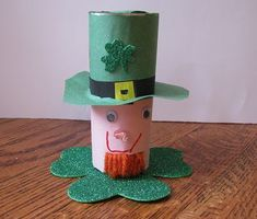 Leprechaun craft for St. Patrick's Day.