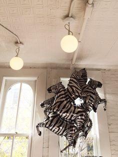 Zebra balloons at The Land of Nod