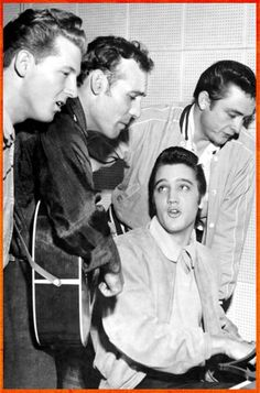 The MILLION DOLLAR QUARTET: In Sun Studio in Memphis - Jerry Lee Lewis, Carl Perkins, Elvis, and Johnny Cash  |  via Twirl and Taste