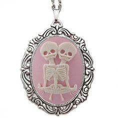 Skeleton Twins Necklace now featured on Fab.