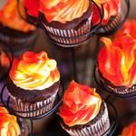 Camp out party cupcakes
