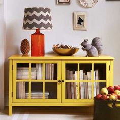 Target Threshold fall decor - OMG I love the book cabinet!!