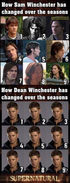 The evolution of the Winchester boys...  #Supernatural #Sam #Dean
