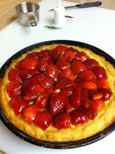 Strawberry Tart - 100% from scratch, even the custard :)