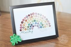 Be Different...Act Normal: Button Rainbow Printable
