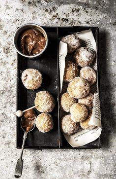 churro balls with dulce de leche dipping sauce