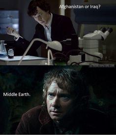 Bilbo Watson says Middle Earth.