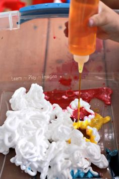 Shaving Cream and Watercolors ~ Learn Play Imagine