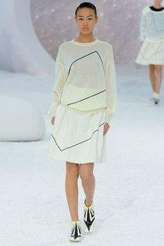 Chanel Spring 2012 ... sheer sweater