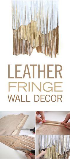 Leather Fringe Wall Decor #DIY fring decor, leather fring, photo backdrops, fring wall, fringe decor