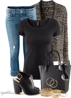 """H & M"" by tufootballmom on Polyvore"