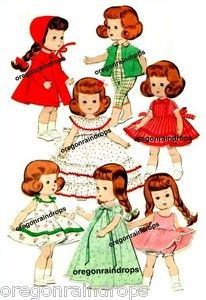 muffie doll | Vintage Doll Clothes Pattern for Ginny Muffie Wendy 3 | eBay