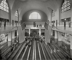 Ellis Island inspection room 1911