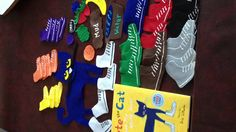 Pete the cat felt board - make sets to match stories.  What a GREAT idea!!  Pete can step in all sorts of things!