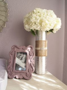 Project Nursery - Purple and Gray Modern Glamour 6