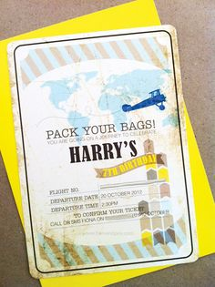 Harrys {Super Stylish!} Vintage Airplane Party