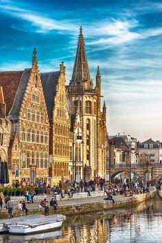 Evening in Gent, Belgium