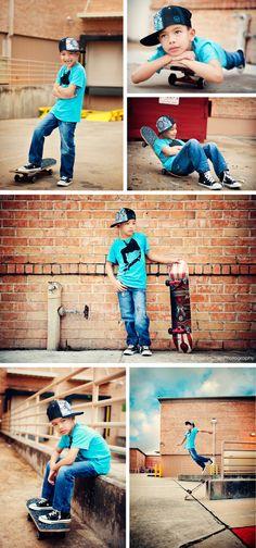 Urban. Cool. Boy photo shoot.