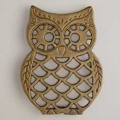 Cast iron out trivet worldmarket cost plus   http://www.worldmarket.com/product/mobile/cast+iron+owl+trivet.do?sortby=ourPicks&from=Search