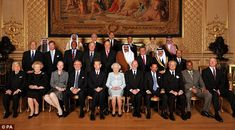 Royal affair: The Queen invited royals from around the world to Windsor Castle for a Sovereign Monarchs Jubilee lunch