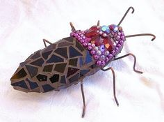 mosaic insects - form base with clay!