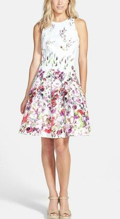 Garden party ready! Perfect floral fit and flare dress.