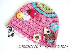 Crochet hat pdf pattern. $5.30, via Etsy.