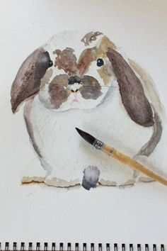 Watercolor Bunny I F